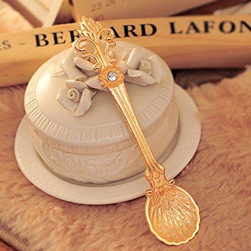 Spritech(TM) Fashion European American Style Vintage Golden Dovetail Shape Coffee Spoon Teaspoon...