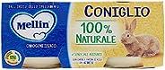Mellin Omogeneizzato di Coniglio 100% Naturale – 24 Vasetti da 80 gr