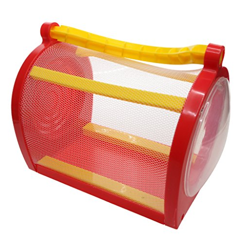 D DOLITY Cage d'Insectes pour Papillon Animal Domestique Arrière-Cour - Rouge, 15x11x12cm