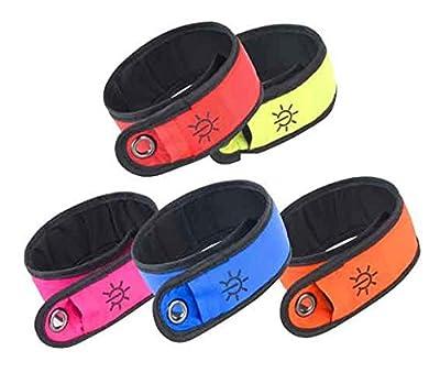 Time to Run High Visibility LED Armbinde leuchten Klaps-Verpackungs-Armbänder Handgelenk-Bänder Für Das Laufende Das Radfahren, Das Im Freiensport Läuft - Pack von einem