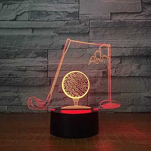 Stereo Licht Golf Clubs 3D Visuelle Tischlampe Acryl Nachtlicht Led 7 Farbwechsel Leuchte Schlafzimmer Büro Decor Für Geschäftsmann Geschenk Acryl Lampe