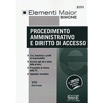 Procedimento Amministrativo E Diritto Di Accesso