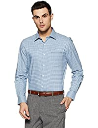 Diverse Men's Checkered Slim Fit Formal Shirt