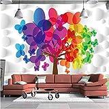Custom 4D Murale Sfondo Grande Cerchio, Albero Grande Albero ,Hd Moderno Parete Di Seta Dipinto Poster Tv Immagine Sfondo Divano Decorazione Murale Per Soggiorno,250Cm(W)×160Cm(H) 8.2×5.24 Ft