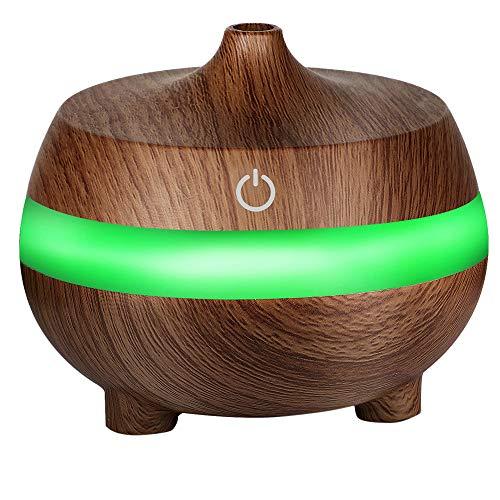Wascoo Holzmaserung Luftbefeuchter Ätherisches Öl Diffusor Ätherische Öle Aromatherapie-Maschine. Yoga, Geschenk, Weihnachten, Büro. Kinderzimmer