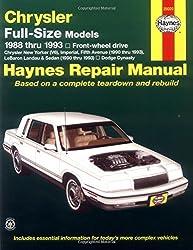 Chrysler Full-Size Front Wheel Drive Automotive Repair Manual (Haynes Repair Manuals) by John Haynes (1993-11-14)