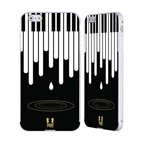 Head Case Designs Leben Piano Musik Kunst Silber Rahmen Hülle mit Bumper aus Aluminium für Apple iPhone 5 / 5s / SE Tropfen
