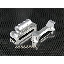 Tamiya Truck Scania R620 Highline Upgrade Parts Aluminium Middle Chassis Mount - 3 Pcs Set Silver