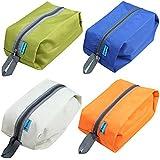 Lot de 2 sacs Protector chaussures imperméables ou Voyage Organisateur sac. Idéal pour Voyage. Couleurs aléatoires.