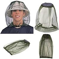 VORCOOL Mosquitera para la cabeza, malla repelente de insectos, suave y duradera, malla de protección facial para el cuello, red antiadherente para pesca, camping, actividades al aire libre