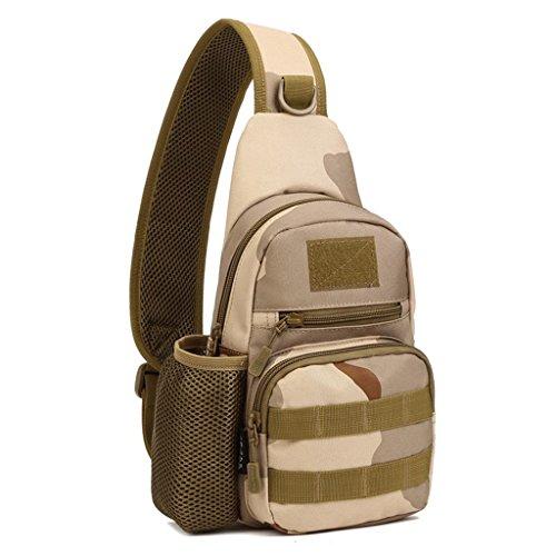 Generic Wasserdicht Brusttasche für Radfahren, Wandern, Camping, Trekking, Bergsteigen, Klettern Sand-Digital