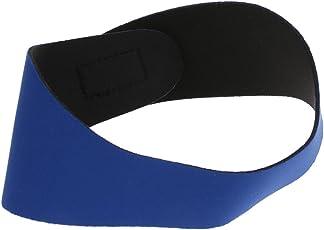 Segolike Kids Children Adults Neoprene Watersport Swimming Bathing Headband Ear Band Protector Guard Secure Ear Plugs - blue, L