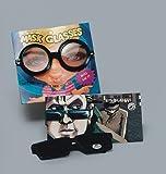 PARTY DISCOUNT Brille mit Rückspiegel Scherzartikel schwarz Einheitsgröße