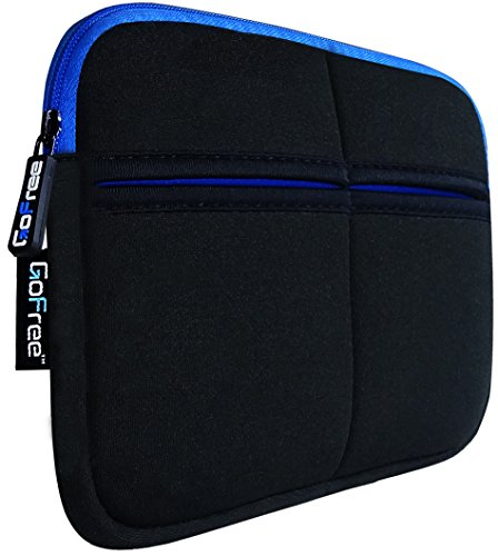 GoFree Slim Line Sleeve for Kindle [Perfect for Kindle Paperwhite, Kindle E-reader, Kindle Voyage & Kindle Oasis] - Shock Absorbent ** Super Compact & Uber Stylish ** - Black w/ Azure Blue Accents  available at amazon for Rs.549