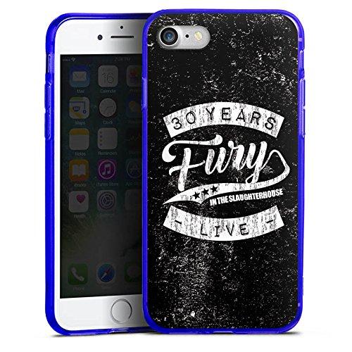 Apple iPhone 8 Silikon Hülle Case Schutzhülle 30 Years Fury in the Slaughterhouse Fanartikel Merchandise Silikon Colour Case blau