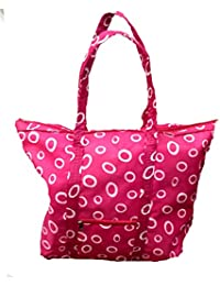 LEDZZ Shopping Bag Big Size With Chain For Close Nylon Material (Assorted Color)
