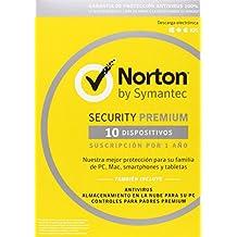 Norton Security Premium 2017 – 10 Dispositivos, 1 año