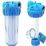 Basal VORFILTER WASSERFILTER 1'' - 5000 L/h PUMPENFILTER Filter Pumpen HAUSWASSERWERK/Plus WANDHALTERUNG und FILTERSCHLÜßEL