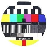 Slipmats TV coppia di panni sottodisco per giradischi dj