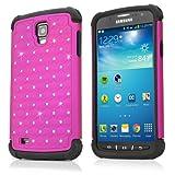 Galaxy S4Active Schutzhülle, BoxWave SparkleShimmer Schutzhülle für [] Glitzernde Strass Cover w/, Bumper für Samsung Galaxy S4Active, Cosmo Pink