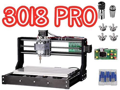 3018 Pro CNC Fräsmaschine laser engraving machine,TOPQSC GRBL Steuerrouter DIY Kit 3 Achsen Kunststoff Acryl PVC Holzschnitzerei 300x180x45mm