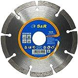 S&R Disque diamant 125 / Lame diamantée à tronçonner standard, soudé au laser, coupe à sec.