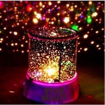 Aeeque Romantique [Pink] Lampe LED Master ciel étoile Étoilées mini étoiles Projecteur [avec câble USB] Enfants Lampe de Chevet Maison de Chambre Décoration