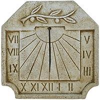 CATART Reloj DE Sol EN Piedra Pared Exterior Rama Olivo 39X39cm.