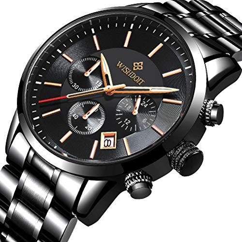 Reloj Negro Fino Para Hombre Lujo Moda Relojes De Pulsera Para Hombres Vestir Casual Deportes Impermeable Reloj De Cuarzo Para Hombre Con Banda Negro De Acero Inoxidable Relojes Hombre Relojesmuyespeciales Com