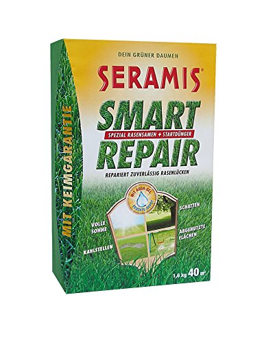 Seramis Smart Repair Rasensamen mit Dünger für 40 m², gelb, 19,3 x 9,4 x 29,8 cm, 731038