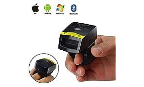 posunitech Bluetooth Barcode Scanner FS02Professionelle Finger 2D Barcode Scanner Mobile Bluetooth Barcode Reader für Warehousing Management Factory