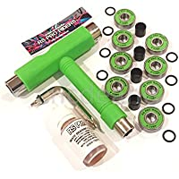 RS Pro Riders RSPROMK608GREEN - Skateboard, colore: verde verde