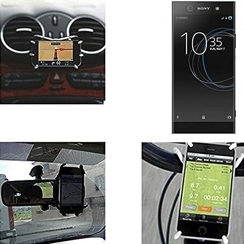 """Support voiture et support pour Sony Xperia XA1 Ultra, noir """"Spider"""". Air vent mount vue arrière du support miroir, porte-vélos, etc. Trépied - K-S-Trade"""