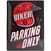 Nostalgic-Art 23230 Best Garage - Biker Parking Only - Helmet, Blechschild 30x40 cm