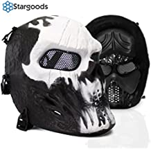 Stargoods Skeleton AirSoft Mask - Metal Mesh Paintball, BB Gun, & CS Games