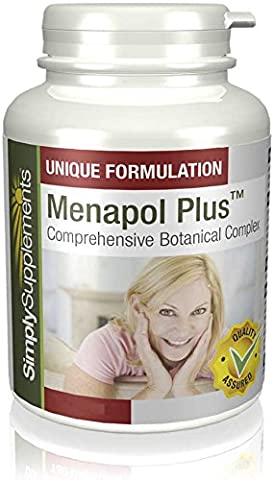 Menapol Plus | Reduces Symptoms of Menopause | 180+180 (360) Capsules | 100% money back guarantee | Manufactured in the