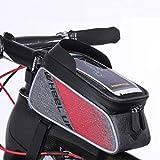 Borsa per telaio bici, Supporto per telefono per bicicletta, XPhonew Ciclismo Anteriore Tubo superiore Supporto manubrio per borsa per borsa per iPhone XS MAX XR X 8 7 6S Plus Smartphone fino a 6.0''
