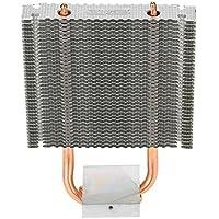 KKmoon HB-802 2 Heatpipes Radiador Disipador de Calor de Aluminio Tarjeta Madre / Northbridge Cooler Refrigeración Southbridge Ventilador de Refrigeración de 80 mm