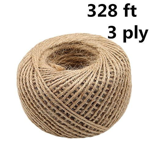 3ply spago di iuta, 100 m resistente naturale spago stringa per artworks, lavoretti, pacchi regalo, natale, matrimonio giardino decorare (colore naturale) natural color