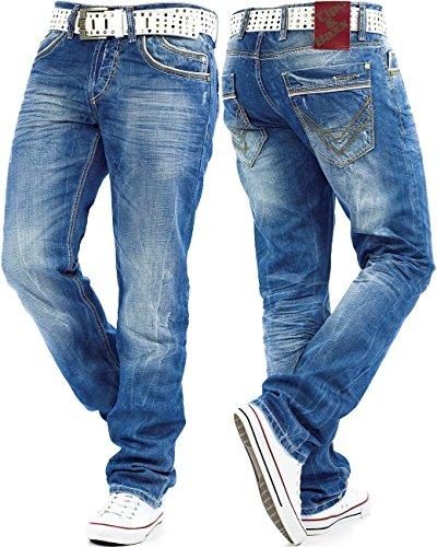 Cipo & Baxx Jeans Rib C-595 Blau Blau