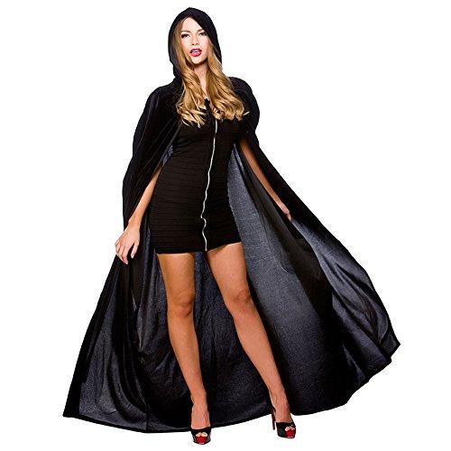 Imagen de el carnaval disfraz capa veneciana negra terciopelo adulto