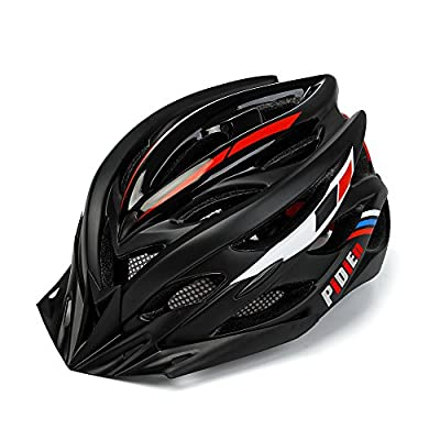 Bike Helmet Men Ultra lightweight Adult Helmet with Adjustable Visor, CPSC Certified Cycle Helmet with Tail Light for Safety Protection from Pidien