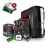 Kiebel Aufrüst Gamer PC (v8) - Intel Core i7-8700K 6-Kerner (6x3.7GHz | Turbo 4.7GHz) | 16GB DDR4 | 250GB SSD Samsung 960 EVO + 1TB Festplatte | OHNE Grafikkarte, OHNE DVD-Laufwerk | MSI Z370-A Pro | Aufrüst Gaming System, komplett vormontiert und getestet [182250]