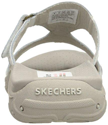 Skechers Reggae Trench Town scorrere Sandalo White Leather