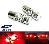 2x Luffy 380P21/5W 1157BAY15D Glühlampe Samsung 40W LED Nebelschlussleuchte Seite Licht Blinker Schwanz Stop rot