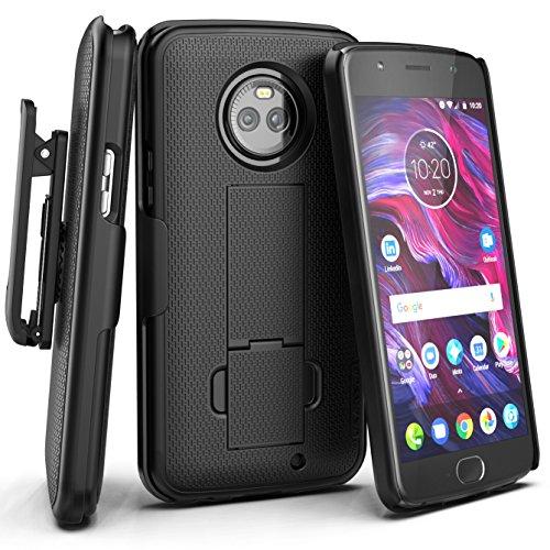Encased Motorola Droid MAXX 2Combo Fall + cliklock Gürtelclip Verizon xt1565(von) eingefasst, Moto X4 - Motorola Verizon-telefon-fall