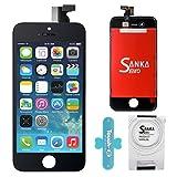 SANKA Ecran LCD Vitre Tactile Pour iPhone 4S, Remplacement Retina Display Complet avec Outils de Réparation pour iPhone 4S - Noir