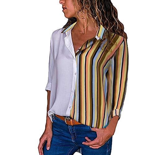 LANSKIRT Mujer Camisas Verano Otoño Tallas Grandes