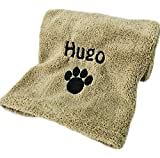 Personalised Embroidered Super Absorbent Microfibre Dog Towel 110 x 60 cm
