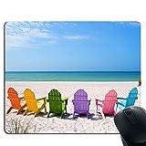 Farbe Strandstühle, Gaming-und Office-Mauspads, erweiterte Textur wasserdichtes Mauspad Slip und Präzision Geschwindigkeit Gummi-Basis, mit Anti-Rutsch-Funktion für PC, PC und Laptop
